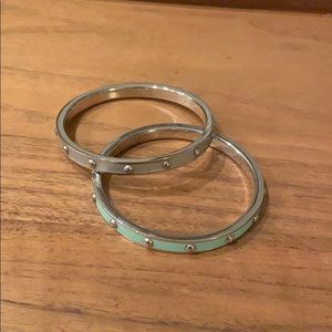 Set of two Coach bracelets - silver and mint green